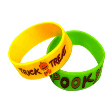 Ecofriendly Recycled Printing Wide Silicone Wristband For Kids