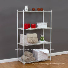 White Powder Coating Metal Wire Sundries Rack for Home (CJ6060120A4C)