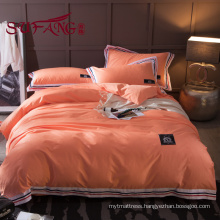 Luxury Hotel Bedding Set 100% cotton color striped 60S 300TC