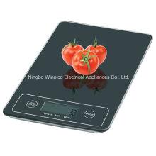 Escala de cozinha de plataforma de vidro eletrônico