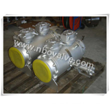 Flanged Double Block and Bleed Trunnion Mounted Ball Valve