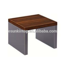 Diseño de madera elegante de la mesa de centro para la cebra roja de la oficina y el acabamiento profundo del hierro, mobiliario de oficina de Fashional para la venta (JO-4035-06)