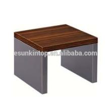 Design de mesa de café em madeira elegante para escritório de zebra vermelha e acabamento de ferro profundo, mobiliário de escritório Fashional para venda (JO-4035-06)