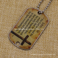 Custom Printing Aluminum Military Dog Tag with Chain