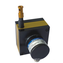 Potentiometric linear displacement sensor