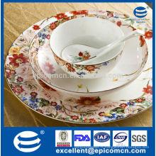 Sélection de jardin pour imprimerie russe Série de style vaisselle en porcelaine Ensemble de bol