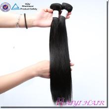 Grand Stock Usine Prix Vierge Cheveux Raides Couleur Naturelle Double Sewn Trame de Cheveux de Trame