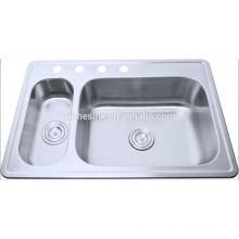 Topmounted Stainless steel double bowl kitchen sink liners