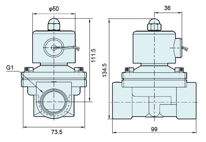 2S250-25 Normally Closed NBR Diaphragm Solenoid Valve