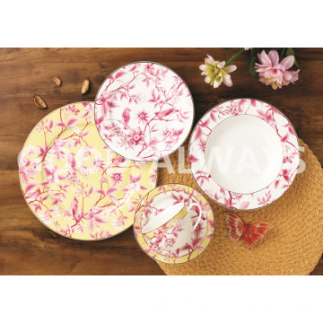 New Bone China Geschirr Set Garden Bird