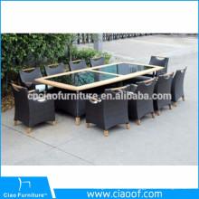 Quadro de alumínio estilo tropical 10 peça mesa de jantar