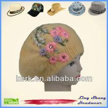 LSA16 Ningbo Lingshang Sombrero de las señoras de la venta caliente del invierno del angora del invierno