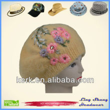 LSA16 Ningbo Lingshang Winter angora winter hot sale ladies' hat