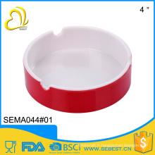 porcelaine imitation de gros cendrier personnalisé en mélamine ronde bicolore