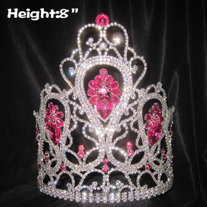 Wholesale Crystal Queen Crowns With Pink Diamond