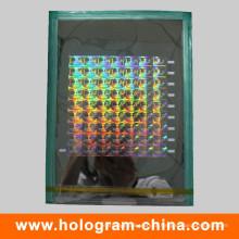 Mestre de Holographic de segurança de laser 2D / 3D personalizado
