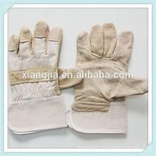 travail de cuir de vache de sécurité de soudure de cuir fendu, gants de sécurité de fente de cuir de vache fendue de vache