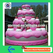 Torta de cumpleaños inflable de la venta caliente para hacer publicidad