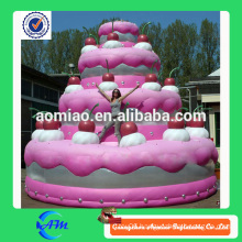 Hot sale inflatable birthday cake for advertising