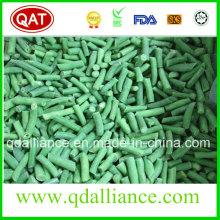 Frijoles verdes cortados congelados de IQF con el certificado casher de Brc