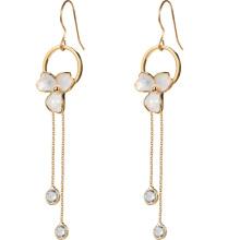 Three Flower Quality 925 silver Fashion tassel earrings