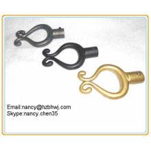 Telescópica ajustável dobra de ferro forjado Rods