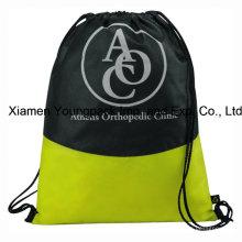 Custom Logo impresso não-tecido Drawstring cinch mochila saco