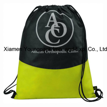 Custom Logo Printed Non-Woven Drawstring Cinch Backpack Bag