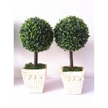 Topiary artificial del árbol plástico de la bola de la nueva venta caliente de la llegada para la decoración casera del mercado de China