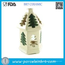 Quemador de aceite de cerámica del árbol de navidad