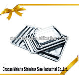 Stainless steel serving tray/square dishes/metal plate