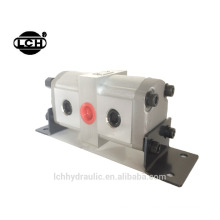 3 sections hydraulic gear flow divider