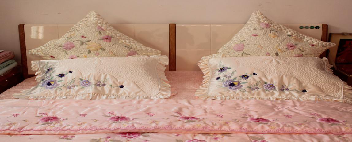 Bedding embroidery
