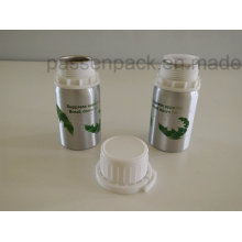 100ml Aluminum Bottle with White Plastic Tamper-Proof Cap (screen printing)