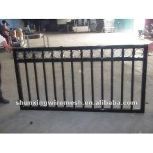 Panneau à clôture temporaire soudé en poudre revêtue de poudre