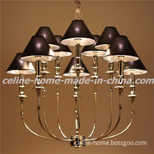 Iron Hanging Lamp with Leather Shade (SL2096-5+5)