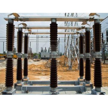 145kV Interruptor de desligamento de lado duplo externo Interruptor Isolador de subestação