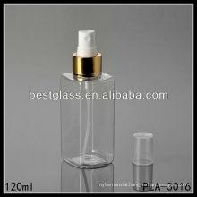 plastic bottle, plastic square bottle, 120ml plastic lotion bottle with golden pump