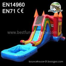 Hot Sale Inflatable Slide Castle Combo For Kids