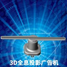 3D publicidad LED luz holograma pantalla holográfica ventilador