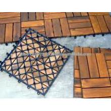 Massivholz Outdoor / Garten Möbel Set - Deck Fliesen
