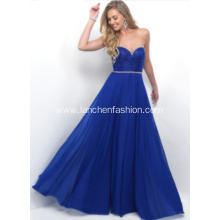 Woman's Sweetheart Long Chiffon Prom Dress