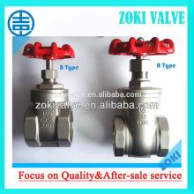 Stainless Steel npt thread gate valve B Type