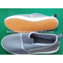 Latest Cheap Lady Casual Shoes Injection Sports Canvas Shoes Stock (FF329-6)
