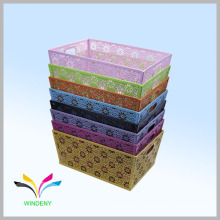 Office Household Different Design Pattern metal storage basket
