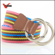 2014 Hot Sale Colorful stripe Canvas Belts