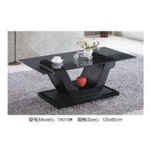 Черное стекло кафе таблицы для современного дизайна мебели (TA019)