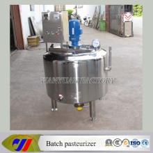 Máquina de pasteurización de tanque de mezcla líquida de acero inoxidable
