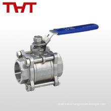 dn15 3 pcs cf8m bsp thread encapsulated ball valve