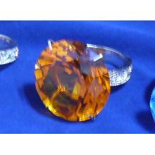 Crystal Hotel Supplies --- Sostenedor del anillo de servilleta de cristal (JD-CJH-003)